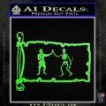 Jolly Roger Black Bart Pirate Flag INT D1 Decal Sticker Lime Green Vinyl 120x120