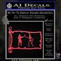 Jolly Roger Black Bart Pirate Flag INT D1 Decal Sticker Pink Vinyl Emblem 120x120