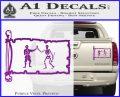 Jolly Roger Black Bart Pirate Flag INT D1 Decal Sticker Purple Vinyl 120x97