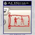 Jolly Roger Black Bart Pirate Flag INT D1 Decal Sticker Red Vinyl 120x120