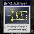 Jolly Roger Black Bart Pirate Flag INT D1 Decal Sticker Yelllow Vinyl 120x120