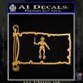 Jolly Roger Black Bart Pirate Flag INT D2 Decal Sticker Metallic Gold Vinyl 120x120