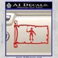 Jolly Roger Black Bart Pirate Flag INT D2 Decal Sticker Red Vinyl 120x120