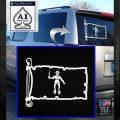 Jolly Roger Black Bart Pirate Flag INT D2 Decal Sticker White Emblem 120x120