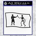 Jolly Roger Black Bart Pirate Flag SL D1 Decal Sticker Black Logo Emblem 120x120