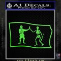Jolly Roger Black Bart Pirate Flag SL D1 Decal Sticker Lime Green Vinyl 120x120
