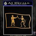 Jolly Roger Black Bart Pirate Flag SL D1 Decal Sticker Metallic Gold Vinyl 120x120