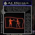 Jolly Roger Black Bart Pirate Flag SL D1 Decal Sticker Orange Vinyl Emblem 120x120