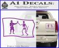 Jolly Roger Black Bart Pirate Flag SL D1 Decal Sticker Purple Vinyl 120x97