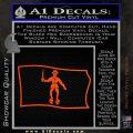 Jolly Roger Black Bart Pirate Flag SL D2 Decal Sticker Orange Vinyl Emblem 120x120