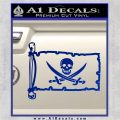 Jolly Roger Calico Jack Rackham Pirate Flag INT Decal Sticker Blue Vinyl 120x120