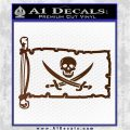 Jolly Roger Calico Jack Rackham Pirate Flag INT Decal Sticker Brown Vinyl 120x120