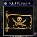 Jolly Roger Calico Jack Rackham Pirate Flag INT Decal Sticker Metallic Gold Vinyl 120x120