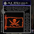 Jolly Roger Calico Jack Rackham Pirate Flag INT Decal Sticker Orange Vinyl Emblem 120x120
