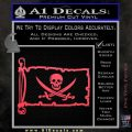 Jolly Roger Calico Jack Rackham Pirate Flag INT Decal Sticker Pink Vinyl Emblem 120x120