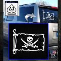 Jolly Roger Calico Jack Rackham Pirate Flag INT Decal Sticker White Emblem 120x120