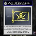 Jolly Roger Calico Jack Rackham Pirate Flag INT Decal Sticker Yelllow Vinyl 120x120