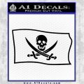 Jolly Roger Calico Jack Rackham Pirate Flag SL Decal Sticker Black Logo Emblem 120x120