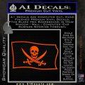 Jolly Roger Calico Jack Rackham Pirate Flag SL Decal Sticker Orange Vinyl Emblem 120x120