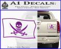 Jolly Roger Calico Jack Rackham Pirate Flag SL Decal Sticker Purple Vinyl 120x97