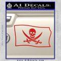 Jolly Roger Calico Jack Rackham Pirate Flag SL Decal Sticker Red Vinyl 120x120