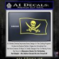 Jolly Roger Calico Jack Rackham Pirate Flag SL Decal Sticker Yelllow Vinyl 120x120