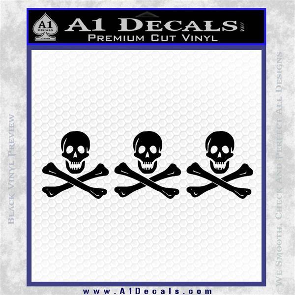 Jolly Roger Christopher Condent Crossbones Decal Sticker Black Logo Emblem