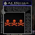 Jolly Roger Christopher Condent Crossbones Decal Sticker Orange Vinyl Emblem 120x120