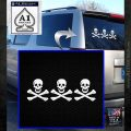 Jolly Roger Christopher Condent Crossbones Decal Sticker White Emblem 120x120