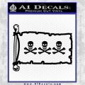 Jolly Roger Christopher Condent Pirate Flag INT Decal Sticker Black Logo Emblem 120x120