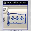 Jolly Roger Christopher Condent Pirate Flag INT Decal Sticker Blue Vinyl 120x120
