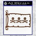 Jolly Roger Christopher Condent Pirate Flag INT Decal Sticker Brown Vinyl 120x120