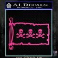Jolly Roger Christopher Condent Pirate Flag INT Decal Sticker Hot Pink Vinyl 120x120
