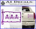Jolly Roger Christopher Condent Pirate Flag INT Decal Sticker Purple Vinyl 120x97