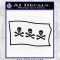 Jolly Roger Christopher Condent Pirate Flag SL Decal Sticker Black Logo Emblem 120x120