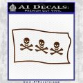Jolly Roger Christopher Condent Pirate Flag SL Decal Sticker Brown Vinyl 120x120