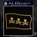 Jolly Roger Christopher Condent Pirate Flag SL Decal Sticker Metallic Gold Vinyl 120x120