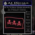 Jolly Roger Christopher Condent Pirate Flag SL Decal Sticker Pink Vinyl Emblem 120x120