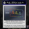 Jolly Roger Christopher Condent Pirate Flag SL Decal Sticker Sparkle Glitter Vinyl 120x120