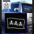 Jolly Roger Christopher Condent Pirate Flag SL Decal Sticker White Emblem 120x120