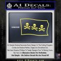 Jolly Roger Christopher Condent Pirate Flag SL Decal Sticker Yelllow Vinyl 120x120