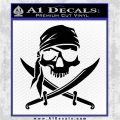 Jolly Roger Decal Sticker Pirate Crossbones D2 Black Logo Emblem 120x120