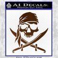 Jolly Roger Decal Sticker Pirate Crossbones D2 Brown Vinyl 120x120
