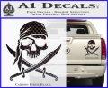 Jolly Roger Decal Sticker Pirate Crossbones D2 Carbon Fiber Black 120x97