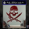 Jolly Roger Decal Sticker Pirate Crossbones D2 Dark Red Vinyl 120x120