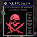 Jolly Roger Decal Sticker Pirate Crossbones D2 Pink Vinyl Emblem 120x120