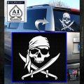 Jolly Roger Decal Sticker Pirate Crossbones D2 White Emblem 120x120