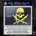 Jolly Roger Decal Sticker Pirate Crossbones D2 Yelllow Vinyl 120x120