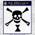 Jolly Roger Emanuel Wynne Crossbones Decal Sticker Black Logo Emblem 120x120
