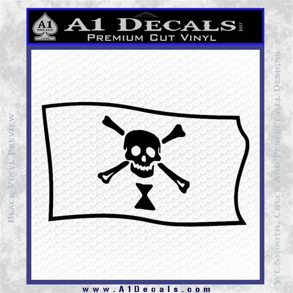 Jolly Roger Emanuel Wynne Pirate Flag SL Decal Sticker Black Logo Emblem